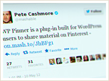 Pete Cashmore Twitter screenshot